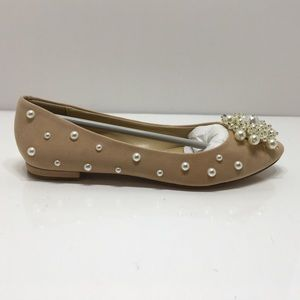 Katy Perry The Lady Pearl Embellished Suede Flats